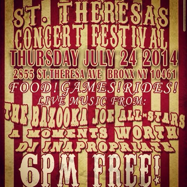 Thursday is going to be amazing! St. Theresa Feast here we come! @AMomentsWorth @KeithMorales Bazooka Joe All-Stars http://t.co/ry2gHINKBv