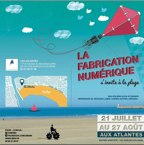 Un #Fablab s'installe cet été @LesAtlantes. Des ateliers, des codings-goûter et de la 3d !  @VilleDesSables #vendee http://t.co/AARCcCS147