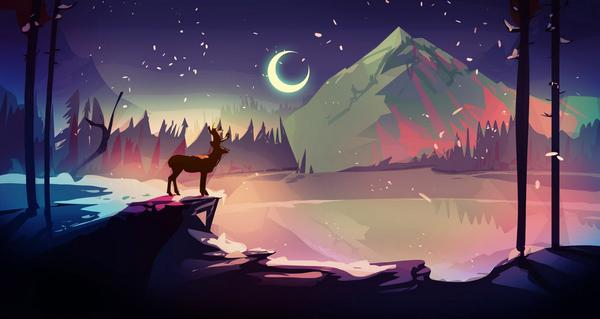 #screenshotsaturday The Deer God concept art #gamedev #kickstarter https://t.co/TUROykn02G @cinopt http://t.co/uXaZgXQhzo