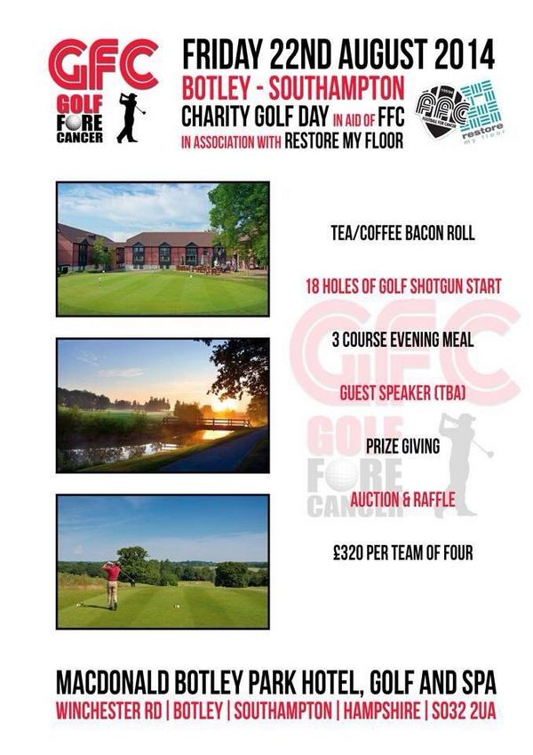 how to hold a charity golf event