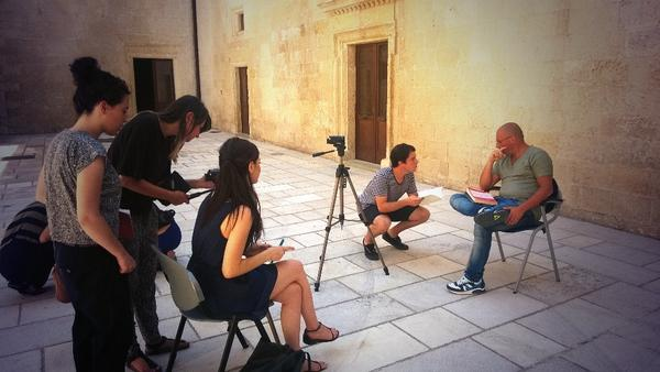 Interviewing an expert of Gricìa history #xylab #storytelling http://t.co/ZcgGQwWJSV