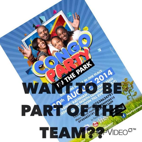 Want to be part of #CongoPartyInThePark team Contact us now!! Follow @OfficialCPITP for more info