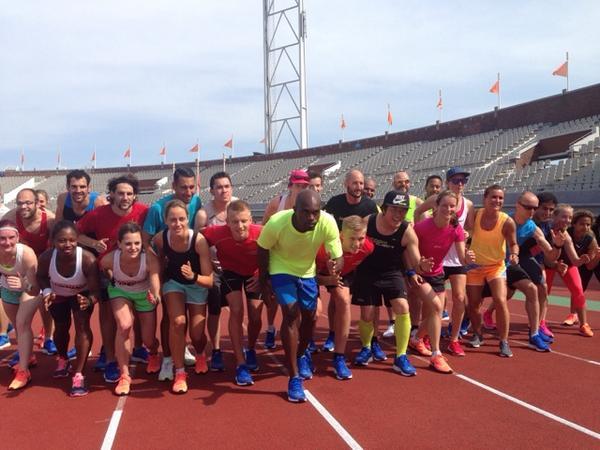 Training olv Churandy Martina @martina200m #run2day http://t.co/GnIXYBo3CV
