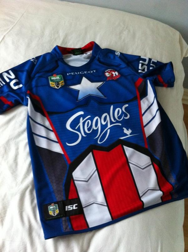 5bb8b104b4b New roosters captain America jersey #nrl · #Marvelpic.twitter.com/H9iKHkjMY5