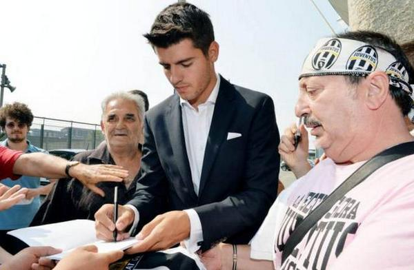 Alvaro Morata completes €18 million move from Real Madrid to Juventus [Pictures]