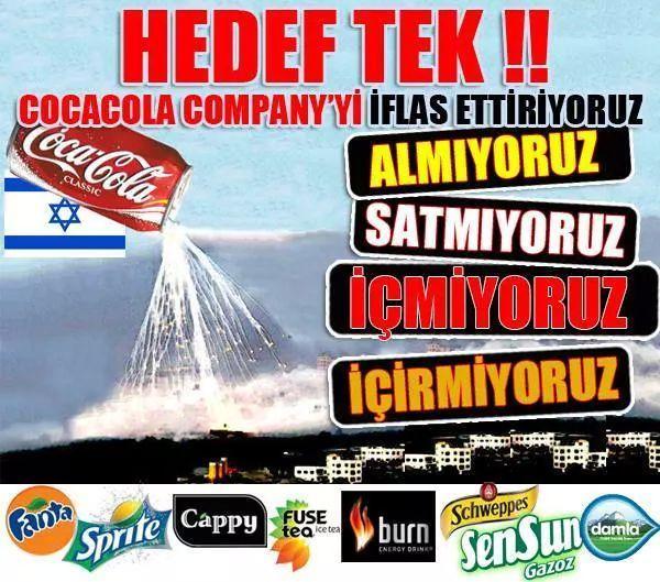 Tek ürün bazli boykot ülke capinda başladi. Cola cola boykotunun başarisindan sonra diger ürünlerle devam edilecektir http://t.co/gN33fvc8jM