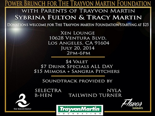 Support the Trayvon Martin Foundation: Power Brunch tomorrow 2-6pm at XEN Lounge w/ @Btraymartin9 @SybrinaFulton http://t.co/jp0US5nHwL