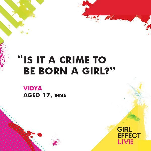 Twitter / vinspired: Who's going to #Girleffectlive ...
