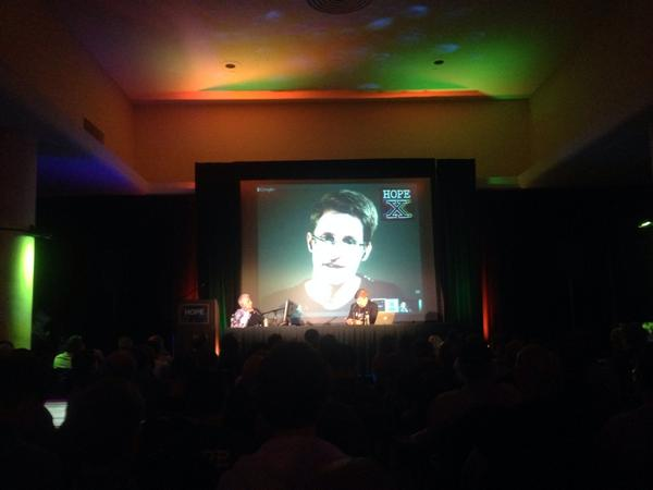 Listening to Edward Snowden (live from Russia) & Daniel Ellsberg have a public conversation for the first time #hopex http://t.co/NTFUsGIuK9