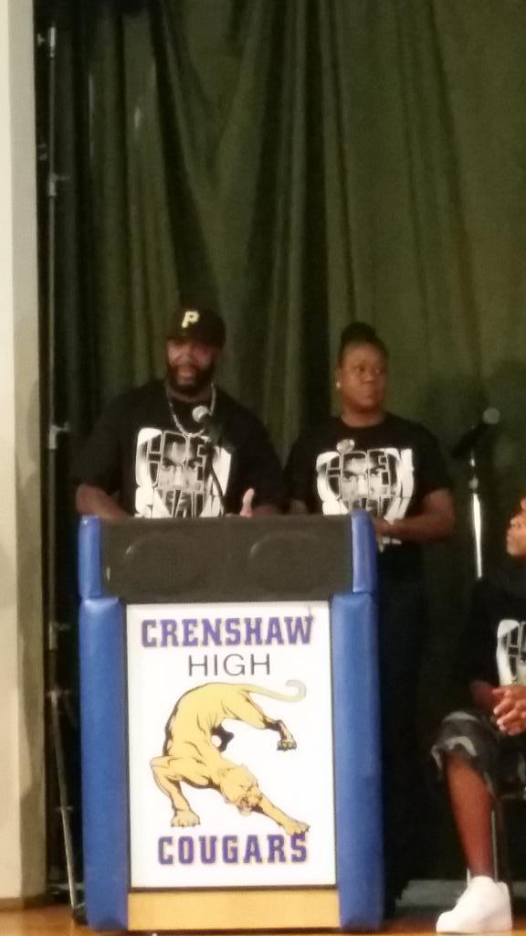 At Crenshaw High School...Peace Talk...#weremembertrayvonmartin #westandwithLA http://t.co/PsVMTdWEES