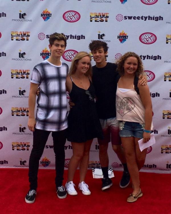 Sweetyhigh on twitter spotted nashgrier and camerondallas at sweetyhigh on twitter spotted nashgrier and camerondallas at their meet and greet sweetyatbrave httpt9uh7s9lwol m4hsunfo
