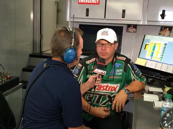 John Force Racing On Twitter Jimmy Prock Talking With Espns Mike