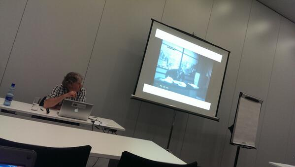 Andreas Fickers kicked off our workshop AV in DH #AVinDH @DH2014 with - off course - a historical video #dh2014 http://t.co/TU8znJEMcm