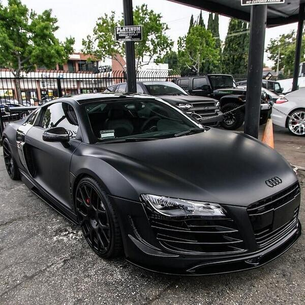 madwhips on twitter insane looking murdered out audi r8. Black Bedroom Furniture Sets. Home Design Ideas
