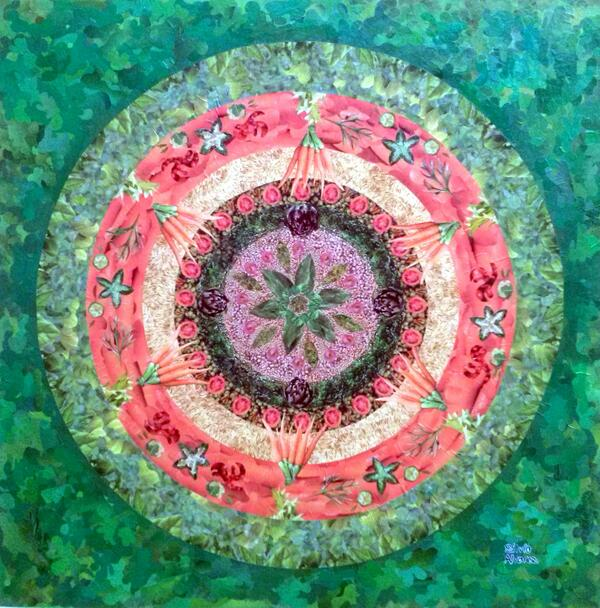 Mandala Urbana I - collage sobre MDF 100 x 100 cm - 2014 - Colagem com recortes de revistas - My new collage work http://t.co/fpEqrS0hgP