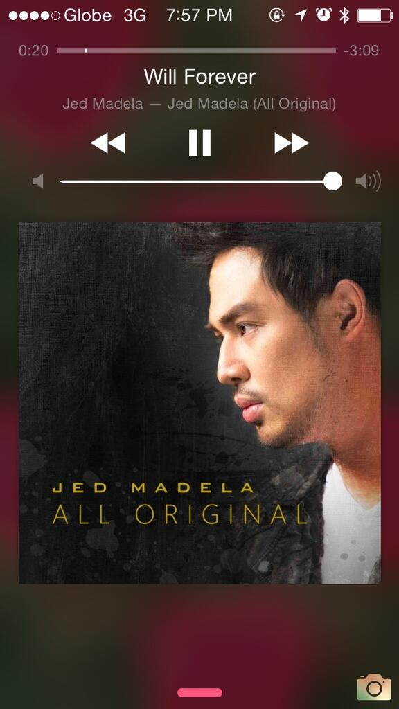 Playing @jedmadela 's album while enjoying the cold weather