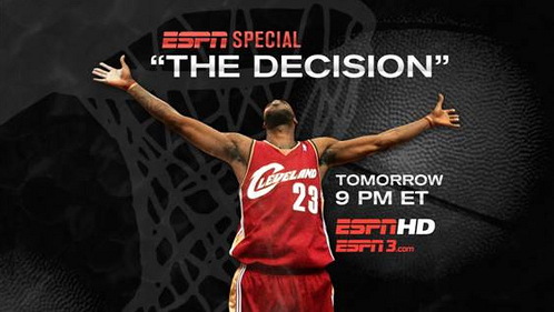 4 years ago today #TheDecision http://t.co/5sUBeesjPc Can you believe we are here witnessing #TheDecision2 so soon after?