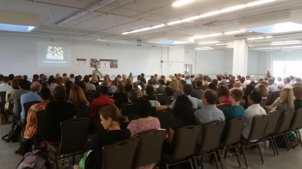 .@garystager kicking off the 7th annual, and largest yet (!!), Constructing Modern Knowledge conference. #CMK14 http://t.co/WWwNXJsi3c