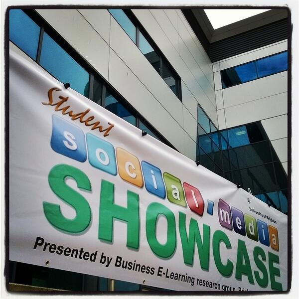 Huxley Building looking good @uniofbrighton for the Student Social Media Showcase tomorrow #brightsoc http://t.co/uLGWF2Yp1r