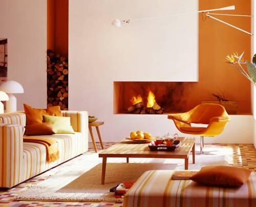 интерьеры гостиных комнат фото с камином