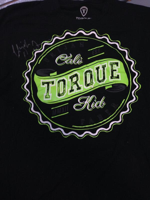 GIVEAWAY! @UrijahFaber Torque Walk Out Shirt for his submission win at UFC 175. Retweet for a chance to win! #rt http://t.co/BNBBt4TM1w