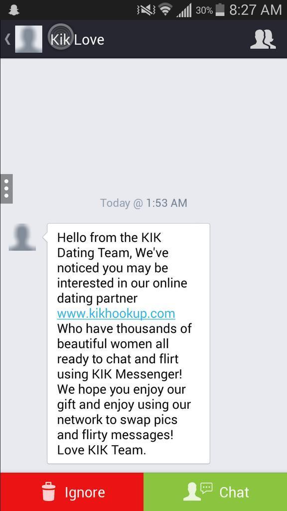 Hello From The Kik Hookup Team