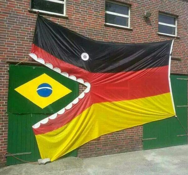 Even the German national flag is getting in on the act. Chomp! #WorldCup #GER http://t.co/vMX7MxBL3l