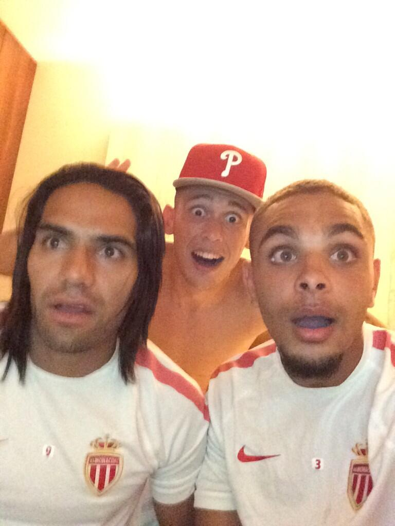 Radamel Falcao & his Monaco teammates took a shocked selfie after Germany scored 5 v Brazil [Picture]