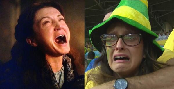 Brazil vs Germany = #TheRedAndBlackWedding http://t.co/C1dvqHIbtV
