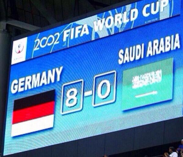 "My favourite tweet today, from a Saudi tweep. TT @pt_mm: our record is in danger!  #البرازيل_المانيا #BRAGER http://t.co/yC02plUMDI"""