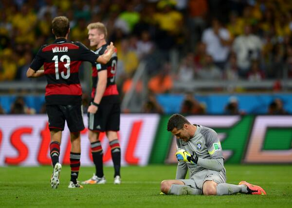 Final. Brazil gets thrashed, 7-1. Germany on to the final with a magnificent performance. Stunning result. http://t.co/CHZCYVAnHm