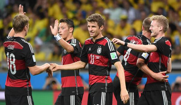 Germany is now the FIRST team to appear in the World Cup Final 8 times.  #BRAvsGER http://t.co/7gBNFHbmaZ