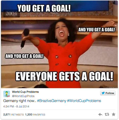 A look at the memes and jokes that emerged during the #BRA vs. #GER  #WorldCup match: http://t.co/hBKWs7DYTG http://t.co/5sPnbE5QTs