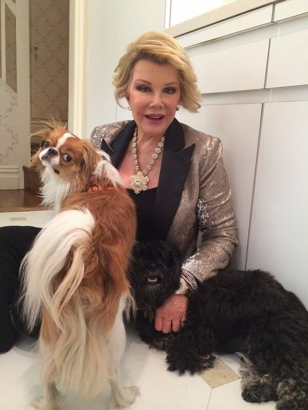 Joan Rivers and her 2 dogs