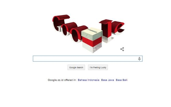 Google Doodle Today 090714 ~ Indonesia's Presidential Election Day 2014 #IndonesiaDamai http://t.co/ENWHKupTNt