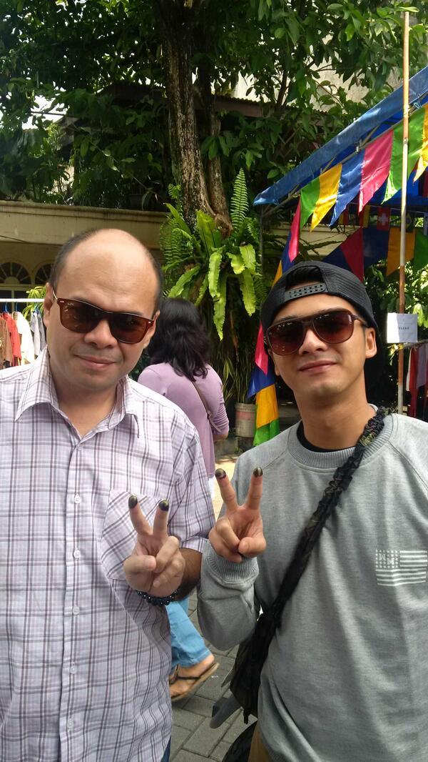 We already use our VOTE, Romy Soekarno and Ricky Harun @PDI_Perjuangan @gerakcepat_ID @kawanjokowi2014 http://t.co/kVnVlTryi2