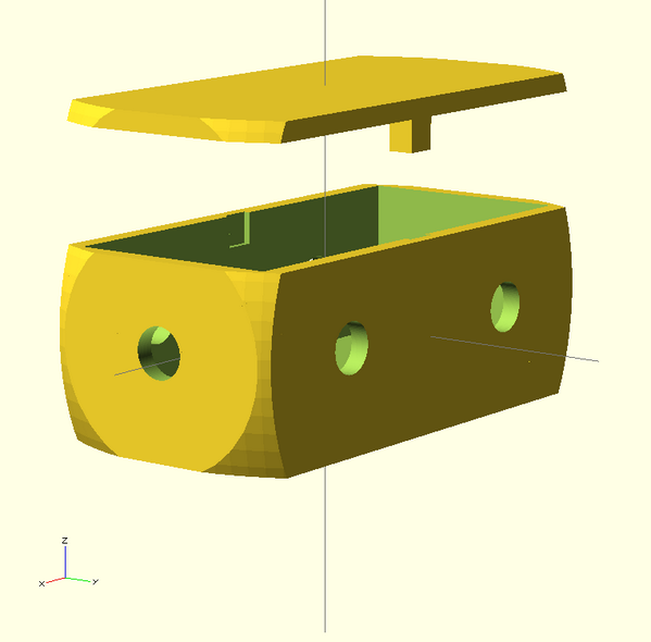 OpenSCAD model of the box for the HeatSeekNYC hardware