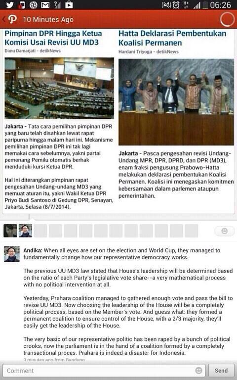 Parah RT @shitlicious Ini menyedihkan. Demokrasi mau dibunuh. :( RT @edwardsuhadi: How disgusting is this? http://t.co/rhnzB3QbIM