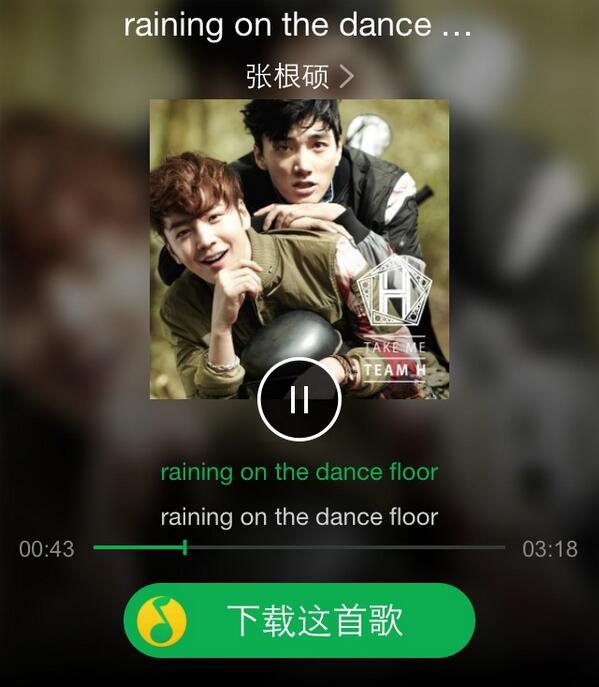 #TeamH  Raining on the dance floor  Full Version  http://t.co/VPqiOCFgfw http://t.co/FdzC98hAj3