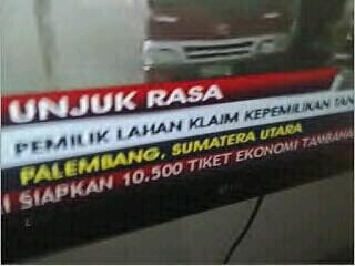 "Yak RT ""@gitadeux Kabar gembira untuk kita semua, kota Palembang kini pindah ke Sumatera Utara #TVOneMemangBeda http://t.co/NMmvcoFyAN"""""