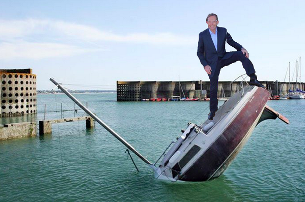 Tony Abbott posing