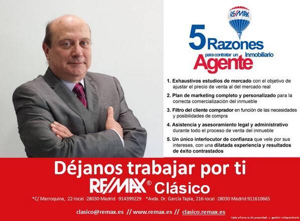 Remax distrito cl sico hub on twitter fidel carramolino montero tu agente inmobiliario en - Agente inmobiliario madrid ...