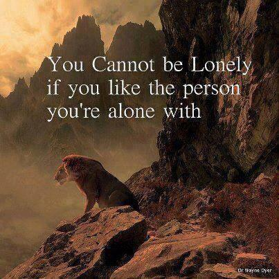 Twitter / JoyAndLife: You cannot be lonely if you ...