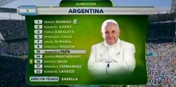 Wow! Big lineup change  for #ARG vs. #NED today# #WorldCup http://t.co/rhqkjloEUu