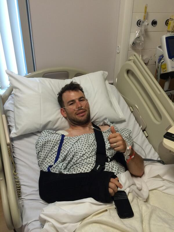Just woken up after surgery on my shoulder... TV straight on to see how @opqscyclingteam is getting on. Come on lads! http://t.co/ZSD5yGT5u0