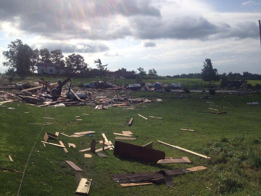 Tornado damage in Smithfield, NY (NWS photo)