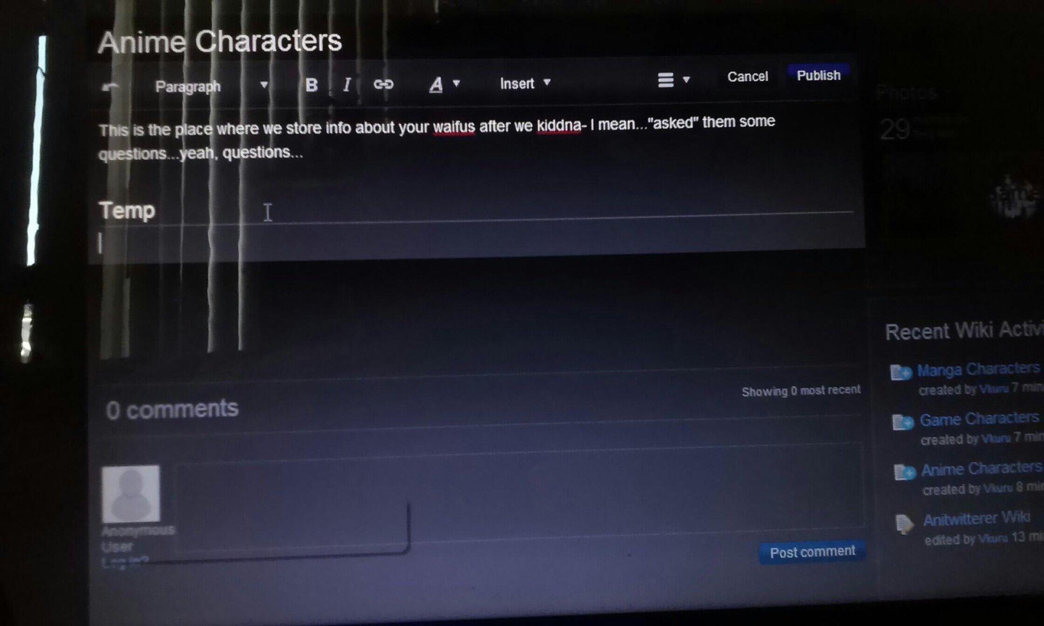 white text on dark field