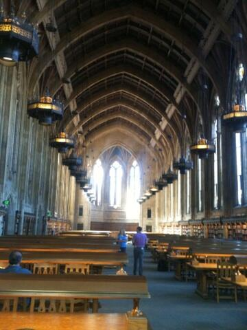 Grand reading room, Suzzallo Library #sbcwest14 http://t.co/Z5vLva2uIQ