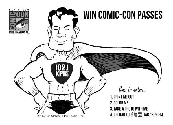Have you colored #ComicBookMan to win #SDCC passes yet? Picking the first winner on Friday! http://t.co/sa0OQmx4JQ http://t.co/ARXPFrYR1I