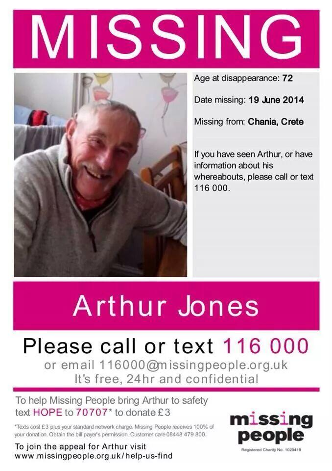 RT @HitchmoughSam: @carolvorders  North Wales Man STILL MISSING. Plz could make the difference + Rt #FindArthur http://t.co/UtKfCQTusC